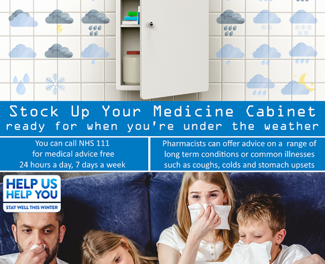 Help yourself stay well this winter with a well-stocked medicine cabinet