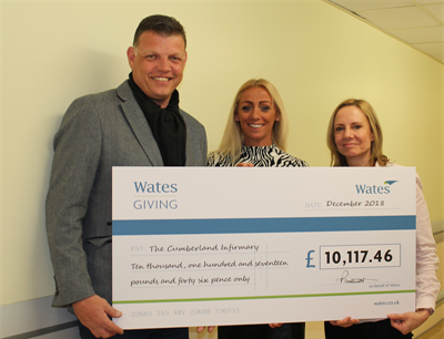 Brave parents donate thousands to Carlisle's maternity unit in memory of their baby son
