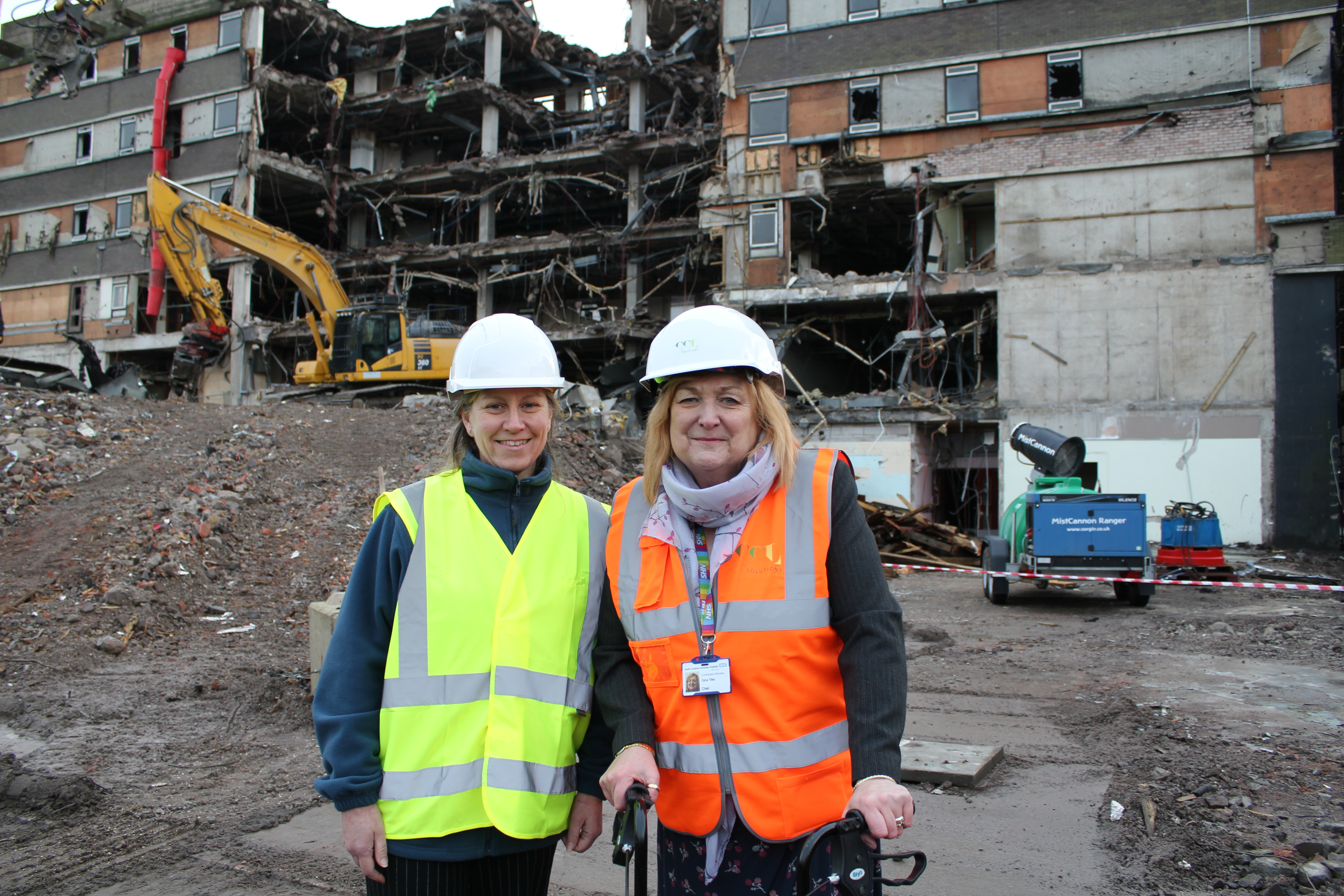 Demolition is underway for work to begin on new £35m cancer centre at the Cumberland Infirmary