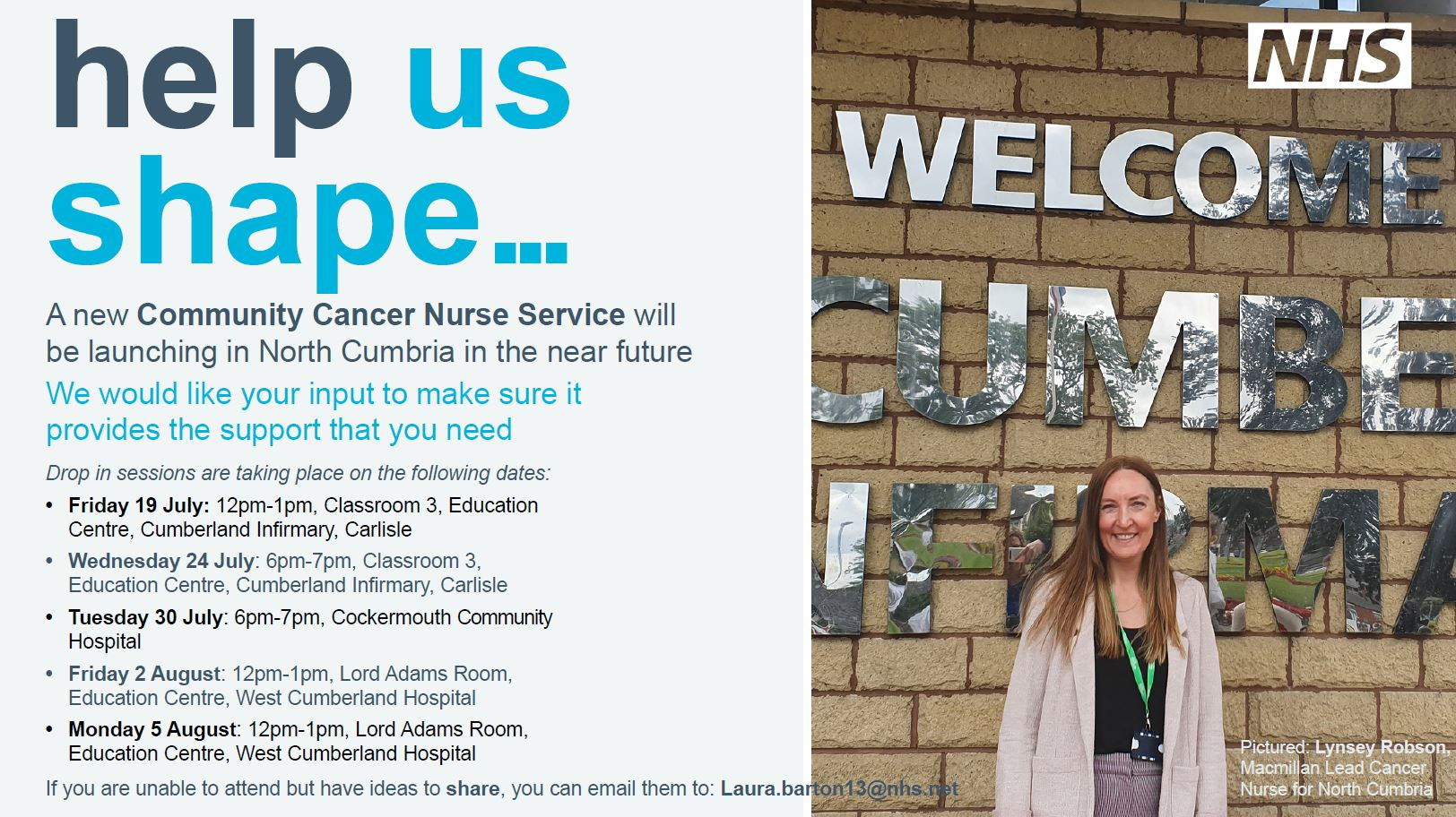 Your input needed to design a new Community Cancer Nurse Service for North Cumbria