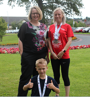 Transplant hero wins double gold