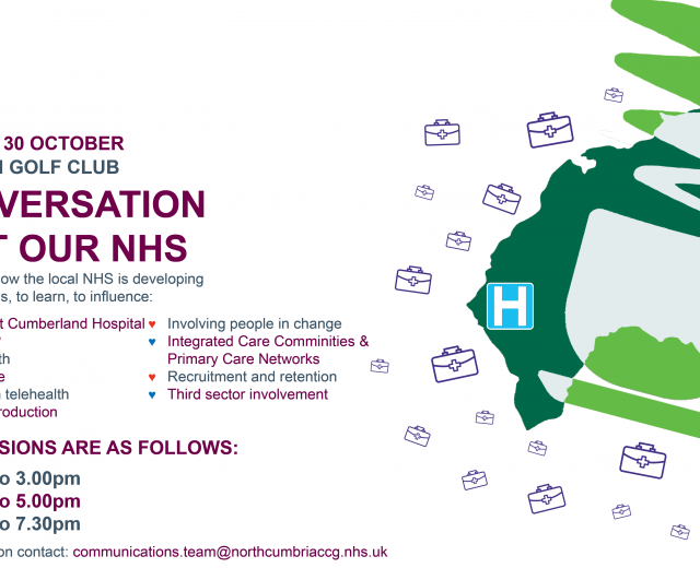 A Conversation About Our NHS – special public event being held on Wednesday 30 October