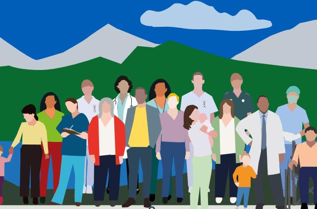 Illustration of community in Cumbria